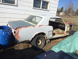 1966 mustang coupe body shell only
