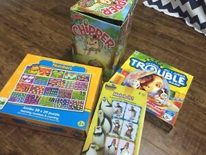Kids games and floor puzzle