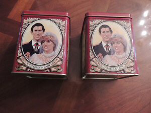 2 Prince of Wales & Lady Diana Wedding Tins with Original Tea