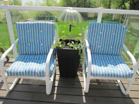 5  SUPER COMFORTABLE PATIO CHAIRS