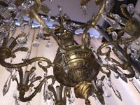 8 arm solid brass chandelier NEGOTIABLE
