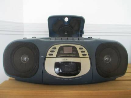 Portable CD/Cassette Player with Radio and Headphone Plug