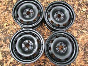 "SETS OF FOUR 15"" STEEL RIMS, 5x100, 114.3 & 4x100, HAVE SINGLES"