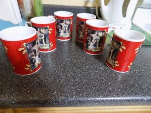 For Sale Six Christmas Mugs