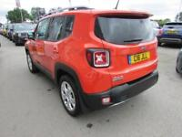 2016 Jeep Renegade 2.0 MultiJet Limited Auto 4WD 5dr Diesel orange Automatic