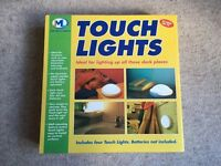 BNIB Touch Lights by JML 4 x lights for home office use AA Batteries