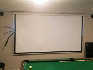Epson Powerlite 8350 Projector and Screen.