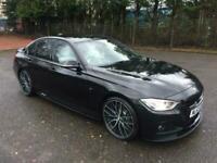 2013.63.BMW 330D.M-SPORT.AUTOMATIC.METALLIC BLACK.WHITE INDIVIDUAL LEATHER.