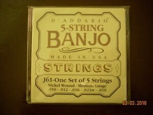 Cordes de Banjo à vendre - Strings Banjo for sale