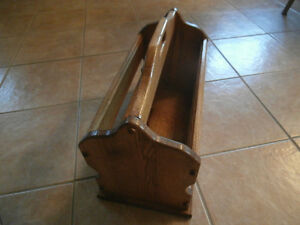REDUCED!!!!!!!!!!!! Amish Made Solid Oak Magazine Rack Windsor Region Ontario image 2