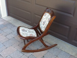 Small size folding  rocking chair