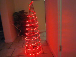 Holiday light-up outdoor Christmas tree display