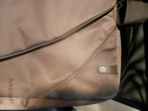 HP laptop case. brown. never used.