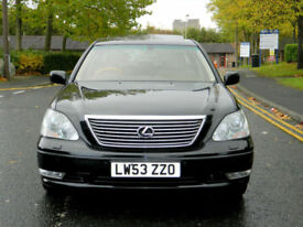 2003 53 LEXUS LS 430 4.3 4dr WITH ONLY 1 PREV OWNER+STUNNING EXAMPLE!