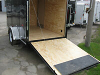 "Enclosed 6 x 10 +18"" VNOSE UTILITY TRAILER, RAMP - STK #1541"