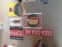 Lots of Coca Cola Signs etc for sale