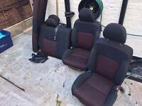 Honda Civic EP2 rear and front seats