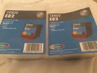 Tesco E82 Colour ink cartridges for Epson T037