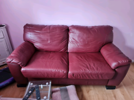 Real Italian leather bed sofa
