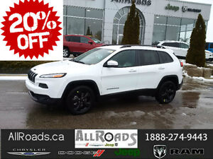 2016 Jeep Cherokee North Altitude Edition save 20% off MSRP!