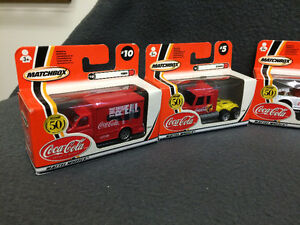 Matchbox 2002 50th Anniversary Coca-Cola Cars 6 in Total