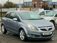 *57 2007 VAUXHALL CORSA SXI 1.2L 3 DOOR + LOW 69K MILES + IDEAL FIRST CAR *