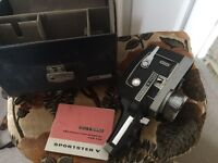 Vintage 8mm camera and projector