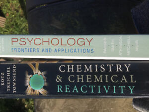 Chemistry & Psychology textbooks
