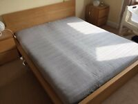 IKEA Malm King size bed and mattress