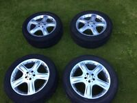 mercedes ml 19 inch alloys with tyres