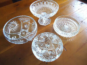 Crystal Bowls Kitchener / Waterloo Kitchener Area image 1