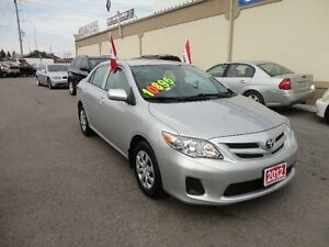 2012 Toyota Corolla LE Sedan E-TESTED & CERT