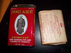 Vintage Prince Albert Tobacco Tin Crimp Cut Pipe W/Inner Wrapper