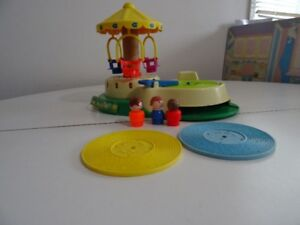 Ancien Fisher Price Change A Tune Caroussel 1981 Musical
