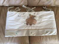 KIDDICARE COT BED BUMPER EXCELLENT CONDITION