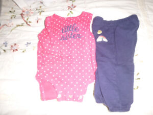 9 month Carter's outfit Little Sister