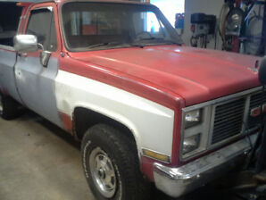 86  GMC K2500 4X4 W/8' FISHER PLOW