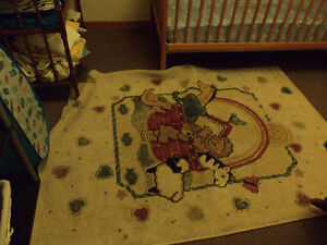 Noah Ark items =area rug,& large picture,picture frame girl