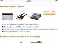 Samsung Xpress M2026W Black & White Laser Printer +Original Samsung Toner Cartridge