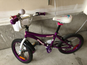 Kids Bike ( Girls) 10 inch with training wheels and Helmet