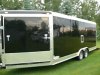 enclosed snowmobile trailer-side by-cargo-extra high-vnose-2015