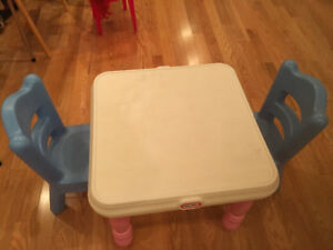 Very cute Table and chaires for young kids toddlers