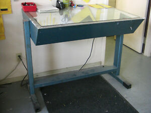Light Table For Sale, Adjustable 3 Fluorescent Tubes $95 REDUCED