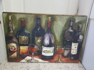 Cadre décoration bouteille de vin