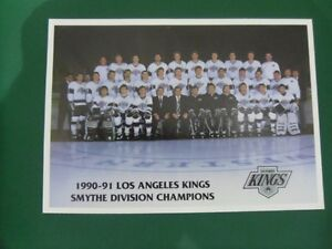 1990-91-LOS ANGELES KINGS-Smythe Division Champions Team Photo.
