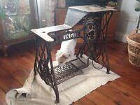 Vintage Singer 29k industrial/leather/cobbler sewing machine cast iron treadle base