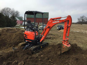 Mini excavator and operator available for hire $75 / hour !!