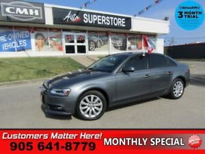 2013 Audi A4 2.0T quattro Premium  AWD ROOF LEATH 2X-8W-SEATS HS