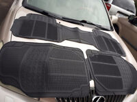 Rubber Car Mats New Black Front + Back Row - 2 available sets