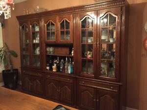 THREE PIECE WALL UNIT/DISPLAY CABINET-EXCELLENT CONDITION 375.00